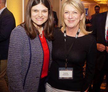 Michigan Rep. Haley Stevens and Cynthia Hutchison