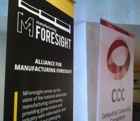 Photo of the MForesight and CCC banners