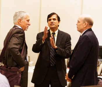 Sridhar Kota conversing with attendees
